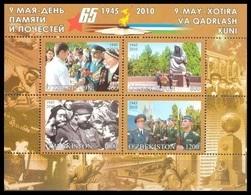 2010Uzbekistan895-98/B5565 Years Of Victory In World War II11,00 € - Uzbekistan