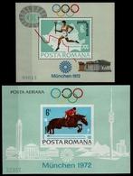 Rumänien 1972 - Mi-Nr. Block 93-94 ** - MNH - Olympia München - 1948-.... Républiques