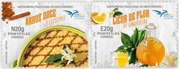 Portugal 2020 EUROMED Euro Med Gastronomia Mediterrâneo Arroz Doce Food Alimentation Orange Liquer Aromatic Stamp - Food