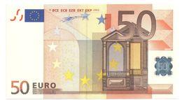 "50 Euro ""X"" R016G4 AU/UNC - 50 Euro"