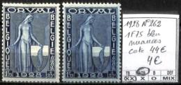 [840510]B/TB//**/Mnh-c:44e-Belgique 1928 - N° 262, 1f75 Bleu, Nuances - Belgium