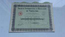 Immobilière Et Hotelière De Normandie (1942) Granville,manche - Acciones & Títulos