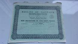 MOULINS DE SAINT = CYR (1937) Saint Cyr L'école - Shareholdings