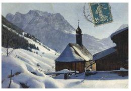 (C 26) France (old) Church In Snowy Mountains / Eglise Et Neige En France - 1920 - Francia