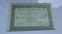 MINES D'ALBI (tarn) - Shareholdings