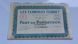 LES TANNERIES FESQUET (1922) - Acciones & Títulos