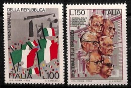 [810862]Italie 1976 - N° 1264/65, La République, SC. - 1971-80: Neufs