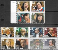 US   1997   Sc#3157a 32c Legendary Opera Block Of 4, #3165a Block Of 8 MNH - Unused Stamps