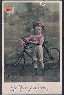 E159 Petit Garçon VELO BICYCLETTE BIKE BICYCLE PHOTO D'ART - Groupes D'enfants & Familles