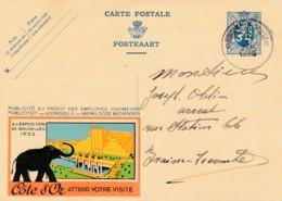 Publibel 85 - 1936 – Expo Bruxelles 1935 – Chocolat Côte D'Or – éléphant – Parfait état - Werbepostkarten