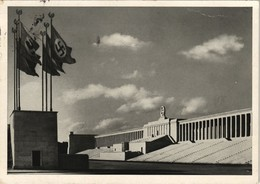 Ansichtskarte Nürnberg Zeppelinfeld - Propaganda 1938 - Nuernberg