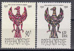 Albania 1991 - 800e Ann. De La Fondation Du Premier Etat Albanais, Mi-Nr. 2464/65, MNH** - Albanien