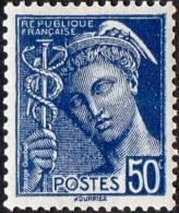 France Mercure N°  414 A ** Le 50 Centimes Bleu - 1938-42 Mercure