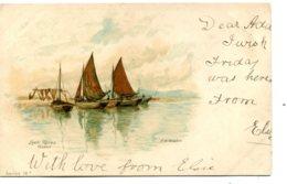 UNITED KINGDON - Scotland - Signed Artcard By A W Weeedon - Loch Ranza Arran Ayrshire - Undivided Rear Vignette - Ayrshire