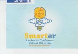 Adhesive Sticker - Smarter AIESEC Leadership Conference - Albert Einstein Caricature - Inventics Invention Size 98/68 Mm - Vignettes Autocollantes