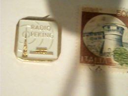 PINS PIN'S RADIO Peking  Pechino  China Cina  Rare Box1 - Mass Media