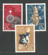 Russia USSR 1966 Year, Mint Stamps MNH (**) , Mi.# 3238-40 Space Dog - 1923-1991 USSR