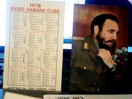 CUBA / KUBA 1978 CALENDARIO RADIO HABANA FIDEL CASTRO  HQ9870 - Calendars