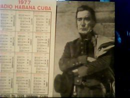 CUBA / KUBA 1977 CALENDARIO RADIO HABANA JOSE GERVASIO ARTIGAS  HQ9874 - Calendars