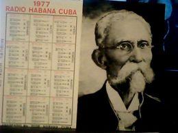 CUBA / KUBA 1977 CALENDARIO RADIO HABANA MAXIMO  GOMES  HQ9875 - Calendars
