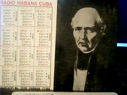 CUBA / KUBA 1977 CALENDARIO RADIO HABANA MIGUEL HIDALGO HQ9876 - Calendars