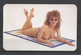 Hungary, Nice Topless Redhead, Universal Shop Békéscsaba Ad,1992. - Kalender