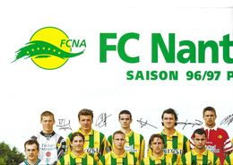 POSTER DU CLUB FOOTBALL CLUB NANTES ATLANTIQUE - SAISON 1996 1997 PREMIERE DIVISION FRANCAISE, VOIR LES SCANNERS - Altri