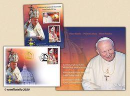 Romania 2020 / Centenary Of The Birth Of Saint John Paul II - Philatelic Album With Special Block And FDC - 1948-.... Repubbliche