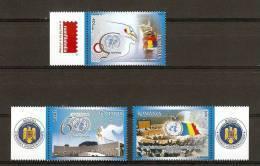 Romania 2005 / ONU Events / 3 Val. With Tabs - 1948-.... Repubbliche