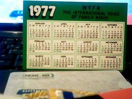 1977 CALENDARIO International VOICE Of Family  RADIO Stations Oakland California WYFR  HQ9878 - Calendars