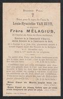 Laarne, Groot-Bijgaarden, 1903, Frère, Broeder, Louis Van Zuyt, - Andachtsbilder