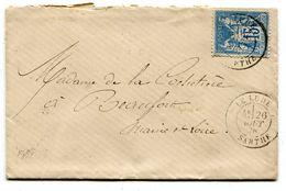 SARTHE De LE LUDE Env. Du 26/10/1878 Avec Dateur T 18+ Verso Cachet Bureau De Passe 2188 - 1877-1920: Periodo Semi Moderno