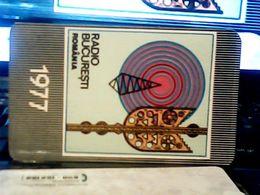 1977 CALENDARIO  RADIO Stations BUCURESTI ROMANIA   HQ9879 - Calendars