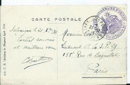 CACHET CORPS EXPEDITIONNAIRE D ORIENT  Sur Carte Postale De SALONIQUE - Marcofilia (sobres)