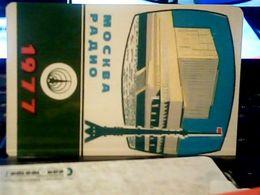 1977 CALENDARIO  RADIO Stations RUSSIA  MOSCA MOCKBA    HQ9881 - Calendars