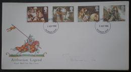 INGLATERRA - LOTE 3 FDC - IVERT 1190/93 REY ARTURO+ 1195/99 CINE ACTORES BRITANICO+ 1202/05 NAVIDAD - 3 FOTOS - 1991-00 Ediciones Decimales