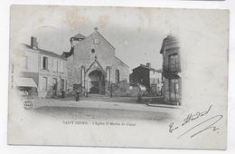 (RECTO / VERSO) SAINT DIZIER - L' EGLISE SAINT MARTIN DE GIGNY - CPA PRECURSEUR VOYAGEE - Saint Dizier
