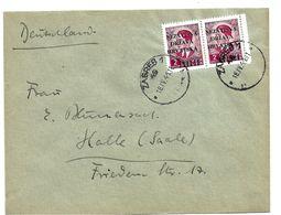 Kro004a / KROATIEN - Überdruck 1941, 2 Din Im Paar, Nach Halle/Saale. - Kroatien
