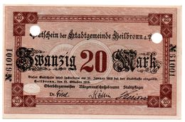 20 Mark 17/10/1918 Heilbronn UNC - [11] Local Banknote Issues