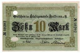 10 Mark 17/10/1918 Heilbronn SUP - [11] Local Banknote Issues
