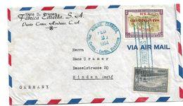 Ho037 / HONDURAS -  Mischfrankatur 1954 Nach Minden/Deutschland - Honduras