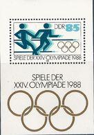 République Démocratique Allemande, Bloc Feuillet N°93,  Jeux Olympiques De Séoul - Blokken