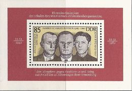 République Démocratique Allemande, Bloc Feuillet N°68,  Exécution Du Groupe De Résistance Schulz, Boysen, Harnack - Blokken