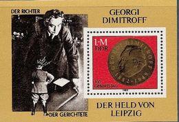 République Démocratique Allemande, Bloc Feuillet N°66, Georgi Dimitroff, Homme D'état Bulgare - Blokken