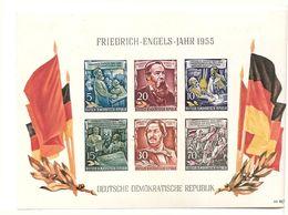 République Démocratique Allemande, Bloc Feuillet, N°7, Anniversaire De La Naissance De Friedrich Engels - Blokken