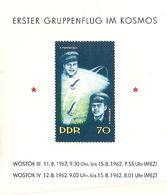 République Démocratique Allemande, Bloc Feuillet, N°11, Premier Vol Sapatial Groupé - Blokken