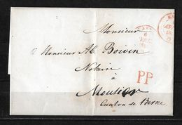1844 VORPHILATELIE BASEL → PP - Siegelfaltbrief Basel Nach Moutier 6 AVRIL 1844 - ...-1845 Prephilately