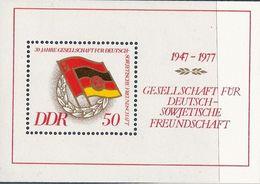 République Démocratique Allemande, Bloc Feuillet N°42, Société D'amitié Germano Soviétique - Blokken