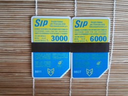 2 Phonecards Italy 3000 L +6000 L Used Rare - Italien