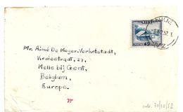 NZO021 / NIUE - Eingeborenen Hütte 1952 Als Einzelfrankatur, Nach Melle Bij  Gent, Belgien - Niue
